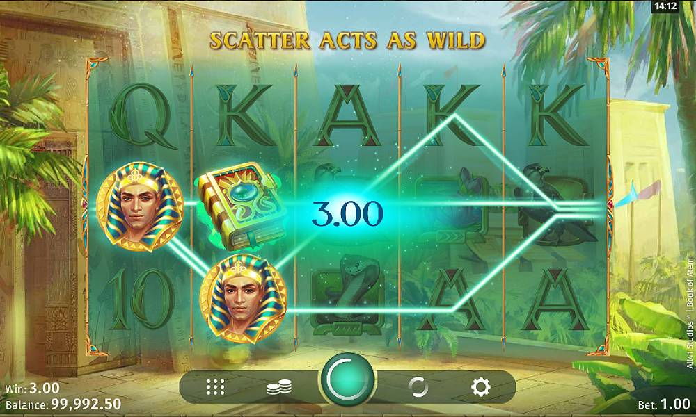 Book of Atem online slot game by Microgaming