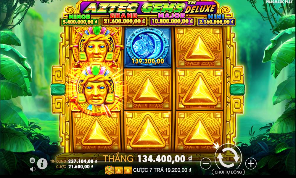 Aztec Gems Deluxe online slot game by Pragmatic Play