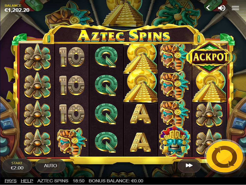 Aztec Spins online slot game by red tiger gaming