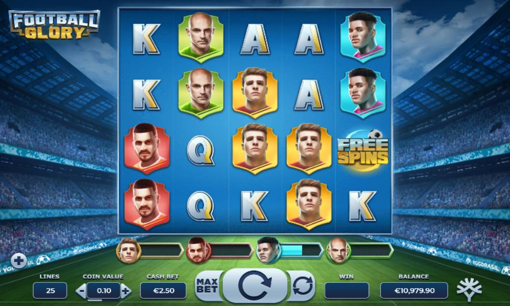 Football Glory online slot game by yggdrasil gaming