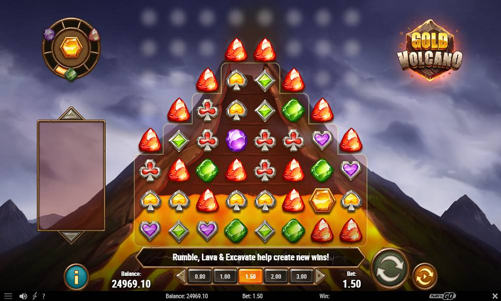 Gold Volcano online slot game by play'n go