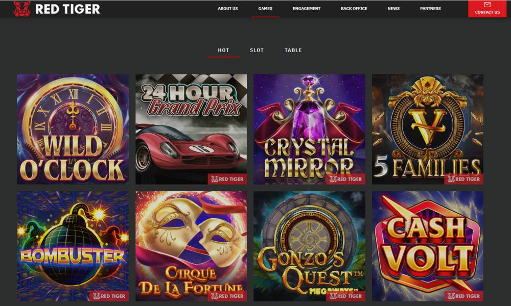 Red tiger gaming online slots provider