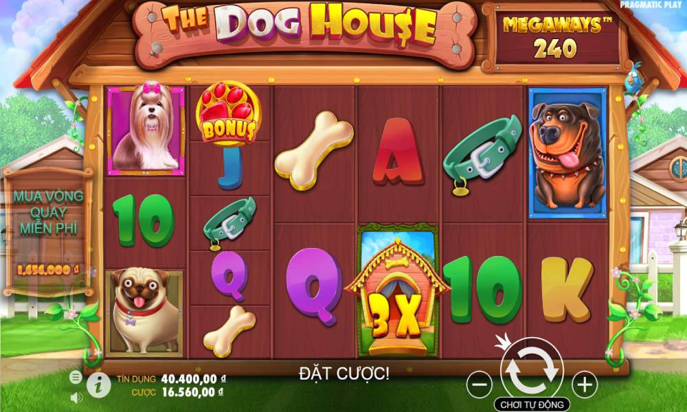 The Dog House Megaways online slot game by pragmatic play